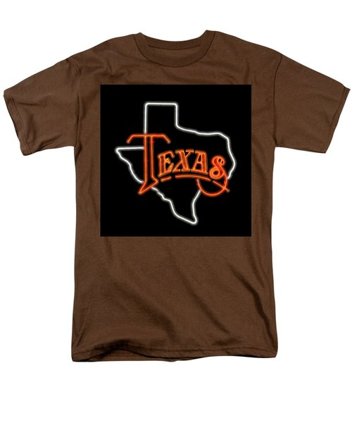 Men's T-Shirt  (Regular Fit) featuring the digital art Neon Texas by Daniel Hagerman