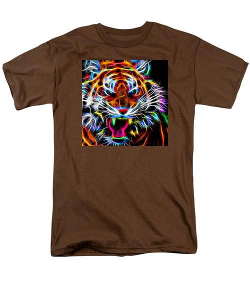 Neon Tiger Men's T-Shirt  (Regular Fit) by Andreas Thust