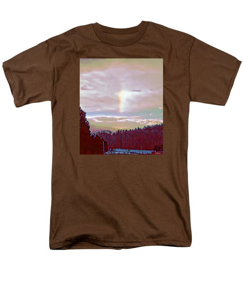 New Year's Dawning Fire Rainbow Men's T-Shirt  (Regular Fit) by Anastasia Savage Ealy