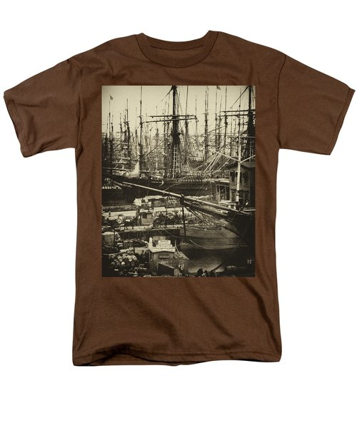 New York City Docks - 1800s Men's T-Shirt  (Regular Fit) by Paul W Faust -  Impressions of Light