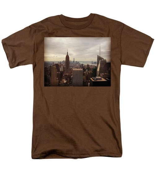 New York City Skyline Men's T-Shirt  (Regular Fit) by Lush Life Travel