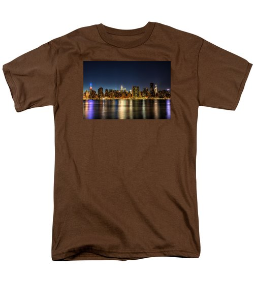 New York City Skyline Men's T-Shirt  (Regular Fit) by Rafael Quirindongo