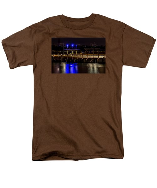 Night Falls On Old Town Pier Men's T-Shirt  (Regular Fit) by Rob Green