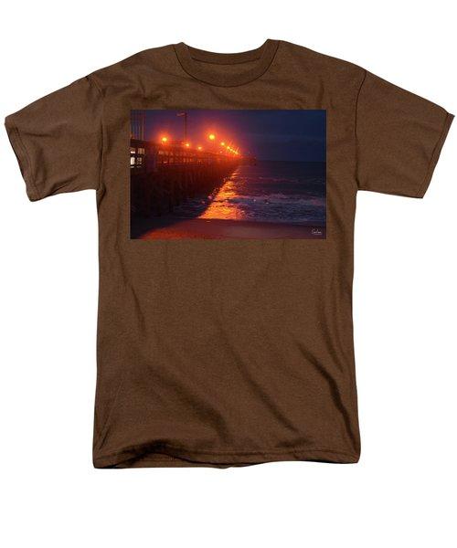 Night Pier Men's T-Shirt  (Regular Fit) by Gordon Mooneyhan