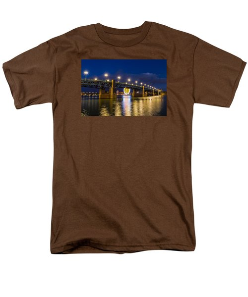 Men's T-Shirt  (Regular Fit) featuring the photograph Night Shot Of The Pont Saint-pierre by Semmick Photo