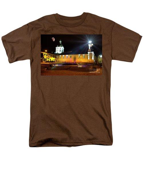 Men's T-Shirt  (Regular Fit) featuring the photograph Nighttime At San Sebastian by Al Bourassa