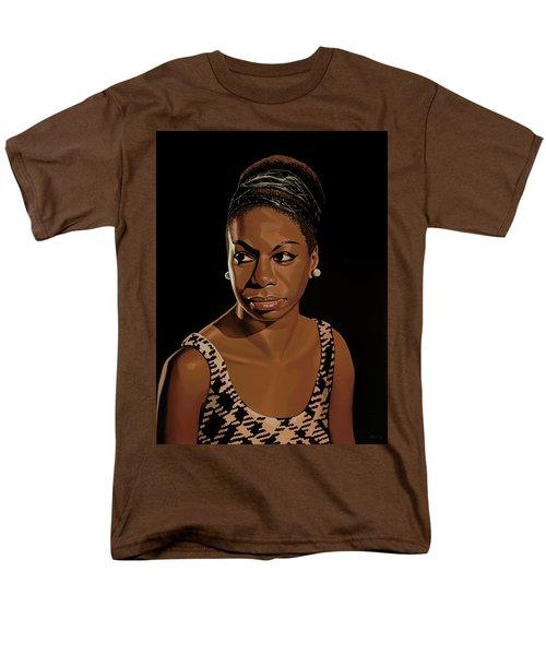 Nina Simone Painting 2 Men's T-Shirt  (Regular Fit) by Paul Meijering