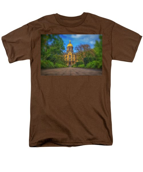Notre Dame University Q2 Men's T-Shirt  (Regular Fit) by David Haskett