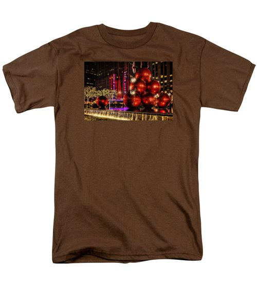 Men's T-Shirt  (Regular Fit) featuring the photograph Nyc Holiday Balls by Chris Lord