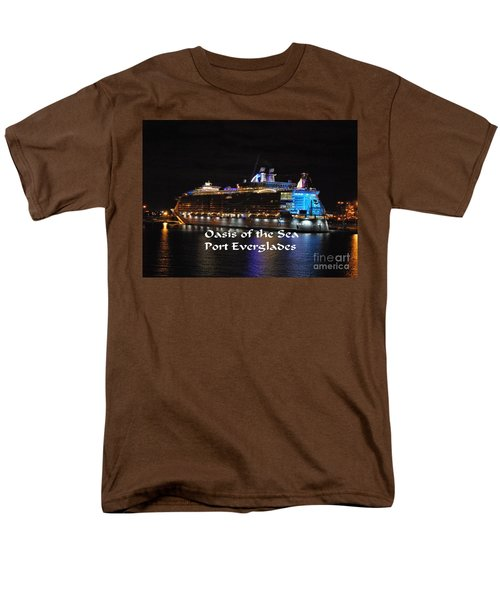 Men's T-Shirt  (Regular Fit) featuring the photograph Oasis Of The Seas by Gary Wonning