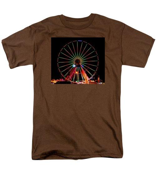 Oc Pier Ferris Wheel At Night Men's T-Shirt  (Regular Fit) by William Bartholomew