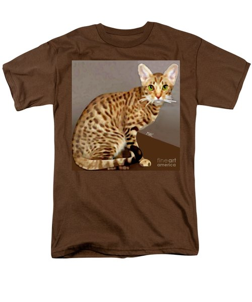 Ocicat Men's T-Shirt  (Regular Fit) by Marian Cates