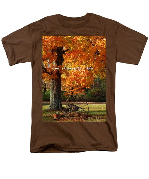 Men's T-Shirt  (Regular Fit) featuring the photograph October Day Love Generosity Hope by Diane E Berry