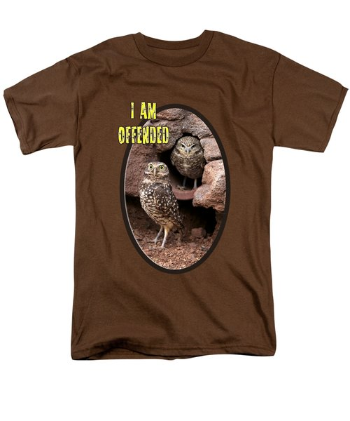 Men's T-Shirt  (Regular Fit) featuring the photograph Offended Owl by Phyllis Denton