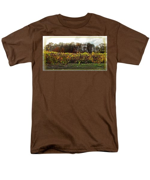 Men's T-Shirt  (Regular Fit) featuring the photograph Ohio Winery In Autumn by Joan  Minchak