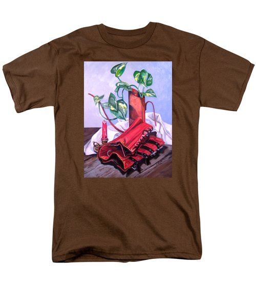Men's T-Shirt  (Regular Fit) featuring the painting Oil Can And Corset by Laura Aceto