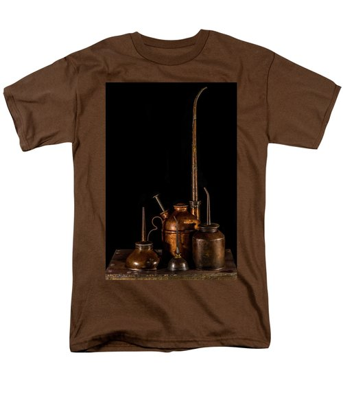 Men's T-Shirt  (Regular Fit) featuring the photograph Oil Cans by Paul Freidlund