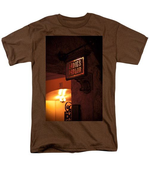 Men's T-Shirt  (Regular Fit) featuring the photograph Old Fashioned Ladies Parlor Sign by Carolyn Marshall