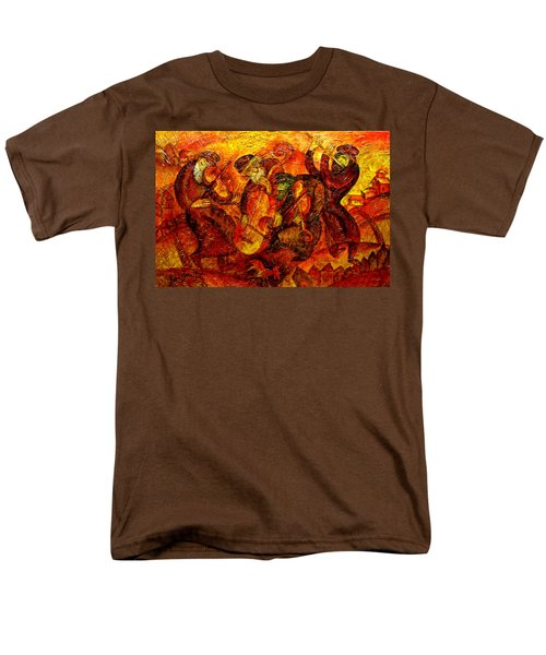 Old Klezmer Band Men's T-Shirt  (Regular Fit) by Leon Zernitsky