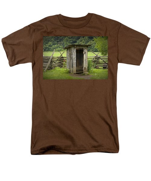 Old Outhouse On A Farm In The Smokey Mountains Men's T-Shirt  (Regular Fit) by Randall Nyhof