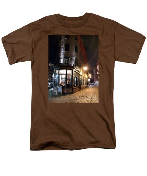 Men's T-Shirt  (Regular Fit) featuring the photograph Old Tavern Boston by Haleh Mahbod