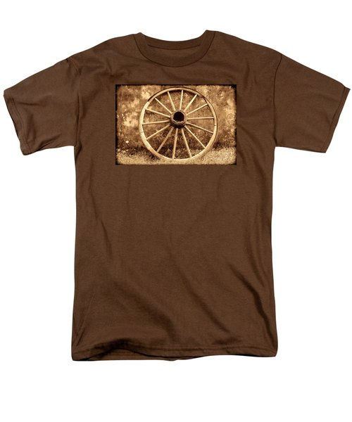 Old Wagon Wheel Men's T-Shirt  (Regular Fit) by American West Legend By Olivier Le Queinec