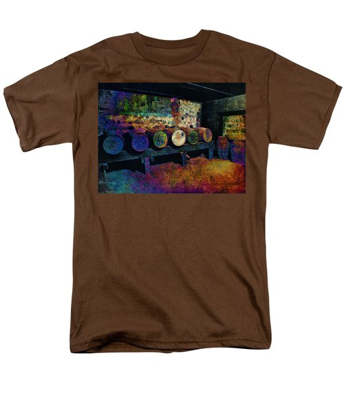 Men's T-Shirt  (Regular Fit) featuring the digital art Old Wine Barrels by Glenn McCarthy Art and Photography