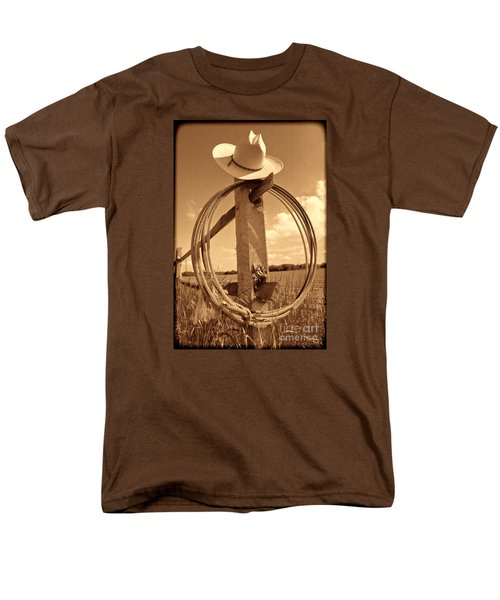 On The American Ranch Men's T-Shirt  (Regular Fit) by American West Legend By Olivier Le Queinec