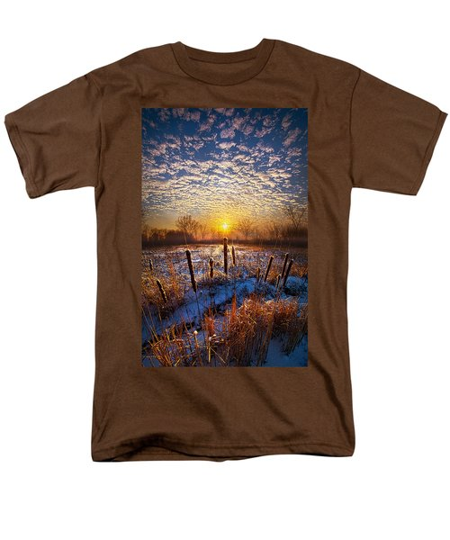 One Day At A Time Men's T-Shirt  (Regular Fit) by Phil Koch
