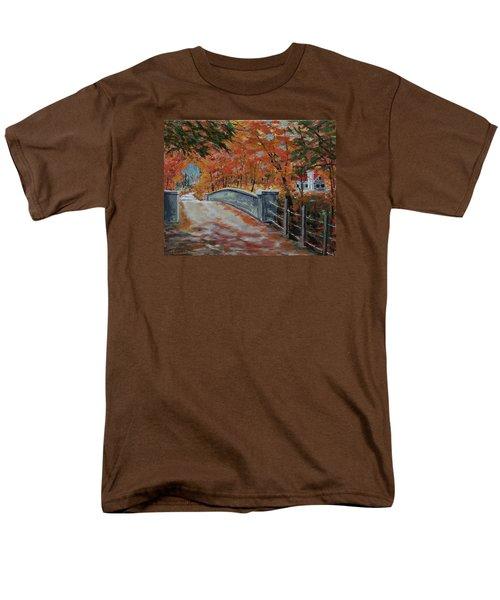 One Lane Bridge Men's T-Shirt  (Regular Fit) by Mike Caitham