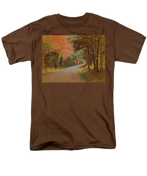 Men's T-Shirt  (Regular Fit) featuring the digital art One More Country Road by John Selmer Sr