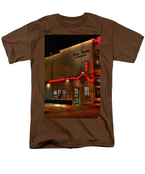 Open All Nite-texas Tavern Men's T-Shirt  (Regular Fit) by Dan Stone