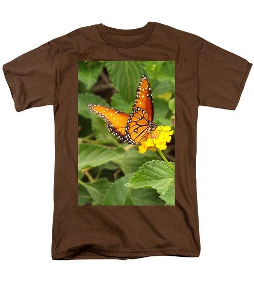 Orange Butterfly Men's T-Shirt  (Regular Fit) by Judi Saunders