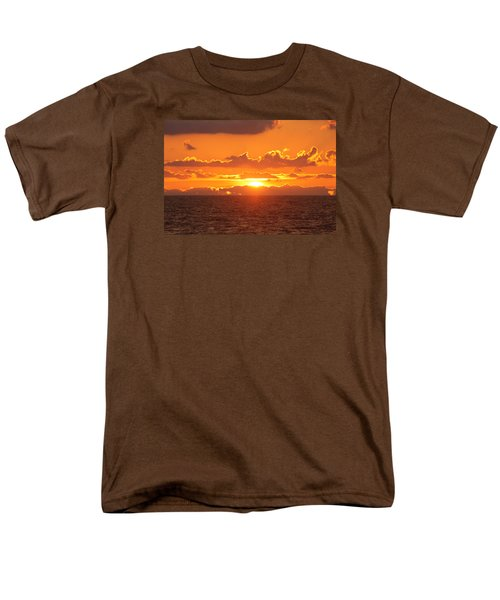 Men's T-Shirt  (Regular Fit) featuring the photograph Orange Skies At Dawn by Robert Banach