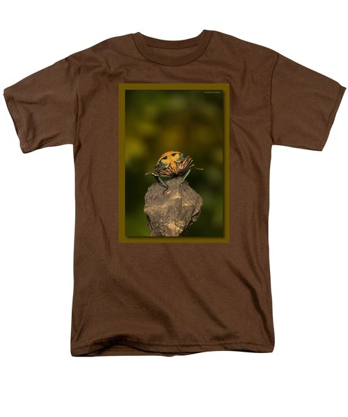 Men's T-Shirt  (Regular Fit) featuring the photograph Orange Stink Bug 002 by Kevin Chippindall