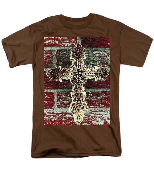 Ornate Cross 1 Men's T-Shirt  (Regular Fit) by Angelina Vick