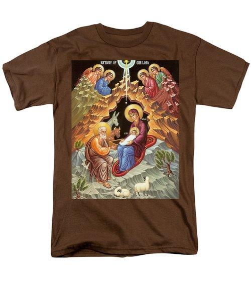 Orthodox Nativity Scene Men's T-Shirt  (Regular Fit) by Munir Alawi