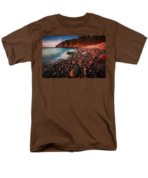 Men's T-Shirt  (Regular Fit) featuring the photograph Otter Beach Main After The First Light  by Emmanuel Panagiotakis