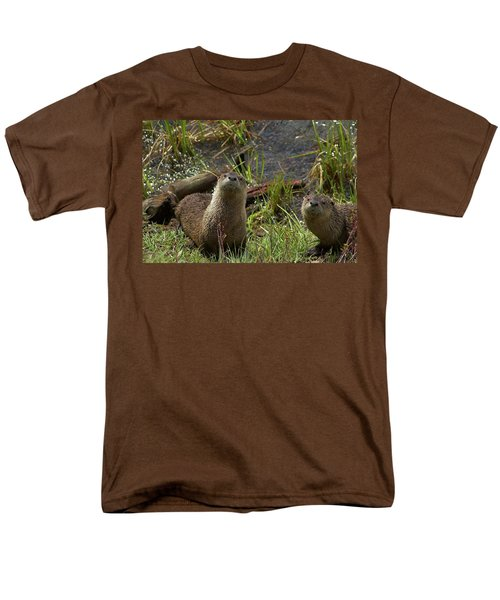 Men's T-Shirt  (Regular Fit) featuring the photograph Otters by Steve Stuller