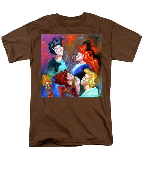 Men's T-Shirt  (Regular Fit) featuring the painting Out On The Town by Genevieve Esson