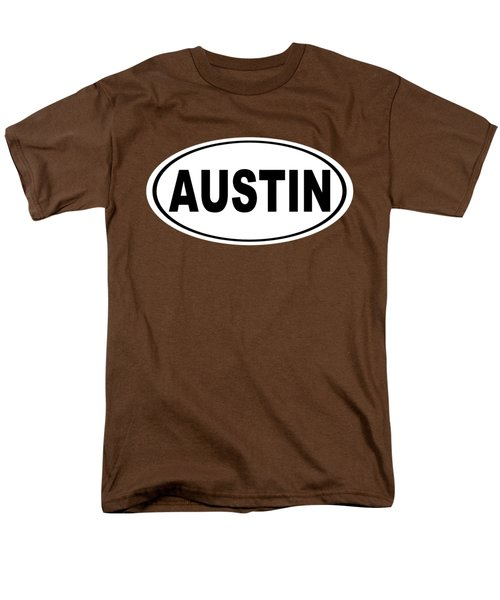Oval Austin Texas Home Pride Men's T-Shirt  (Regular Fit) by Keith Webber Jr