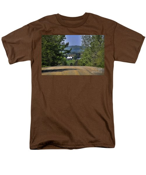 Men's T-Shirt  (Regular Fit) featuring the photograph Over The Hill by Jim Lepard