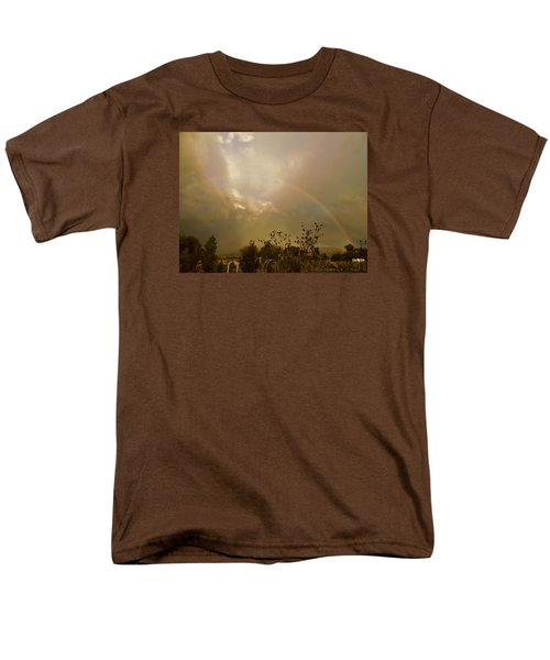 Men's T-Shirt  (Regular Fit) featuring the photograph Over The Rainbow Garden by Deborah Moen
