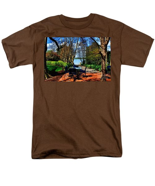 Overlook Cafe Men's T-Shirt  (Regular Fit) by Diana Mary Sharpton