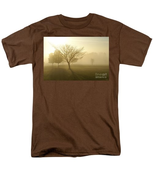 Ozarks Misty Golden Morning Sunrise Men's T-Shirt  (Regular Fit) by Jennifer White