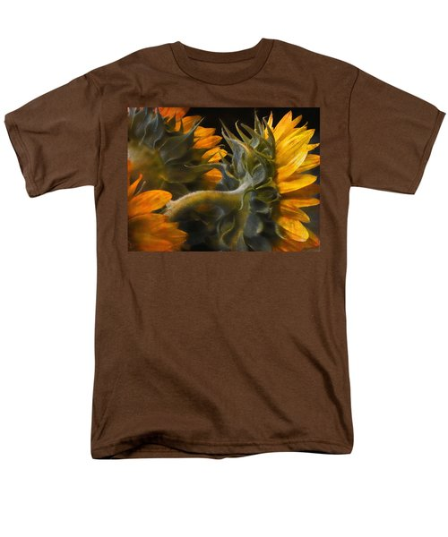 Men's T-Shirt  (Regular Fit) featuring the photograph Painted Sun Flowers by John Rivera