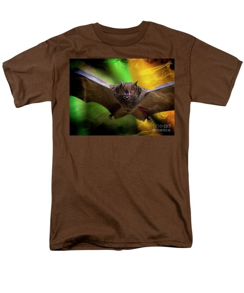 Men's T-Shirt  (Regular Fit) featuring the photograph Pale Spear-nosed Bat In The Amazon Jungle by Al Bourassa