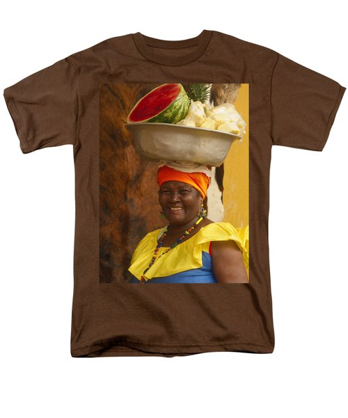 Palenquera In Cartagena Colombia Men's T-Shirt  (Regular Fit) by David Smith