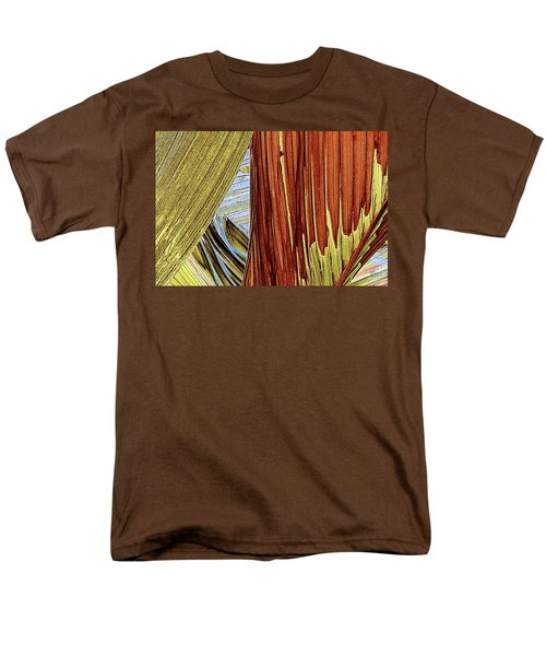 Men's T-Shirt  (Regular Fit) featuring the photograph Palm Leaf Abstract by Ben and Raisa Gertsberg