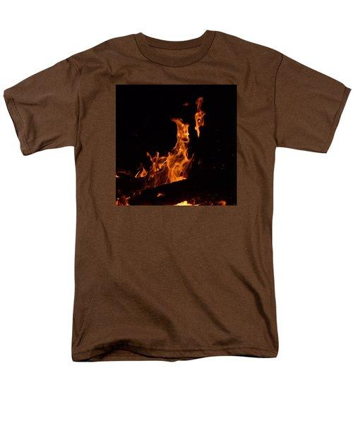 Pareidolia Fire Men's T-Shirt  (Regular Fit) by Janet Rockburn
